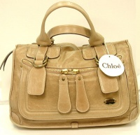 Chloè Woman Camel Color Leather Hand Bag