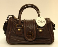 Chloè Woman Brown Leather Hand and Shoulder Bag