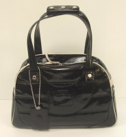 Tod's Woman's Black Paint Leather